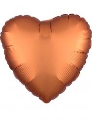 Balão alumínio coração cobre acetinado 43 cm