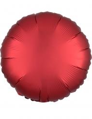 Balão alumínio redondo vermelho rubi 43 cm