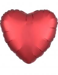 Balão alumínio coração vermelho 43 cm