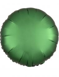 Balão alumínio redondo verde esmeralda 43 cm