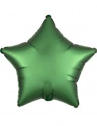 Balão alumínio estrela verde esmeralda 43 cm