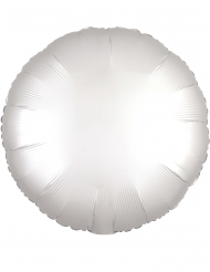 Balão alumínio redondo branco 43 cm