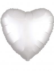 Balão alumínio coração branco 43 cm