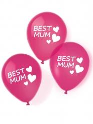 6 Balões de látex Best Mum 27.5 cm