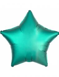 Balão alumínio estrela verde menta 43 cm
