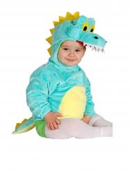 Disfarce tunica com capuche crocodilo bebê