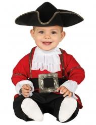 Disfarce macacão pirata vermelho bebé