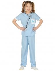 Disfarce veterinario azul menina