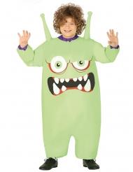 Disfarce insuflável monstro verde criança