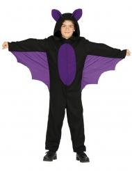 Disfarce macacão morcego lilás e preto menino