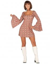 Disfarce vestido disco losango mulher