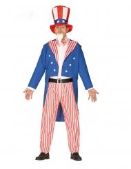 Disfarce patriota americano homem