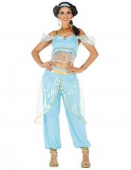 Disfarce princesa oriental azul mulher