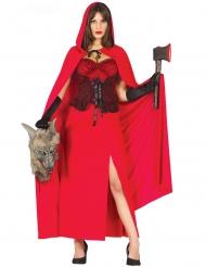 Disfarce matadora do lobo vermelho mulher