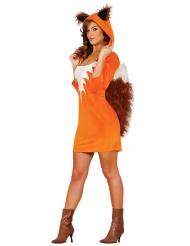 Disfarce vestido raposa mulher