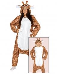 Disfarce macacão girafa adulto