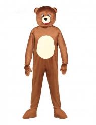 Disfarce macacão mascote urso adulto