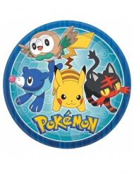 8 Pratos Pokemon Core™ 23 cm