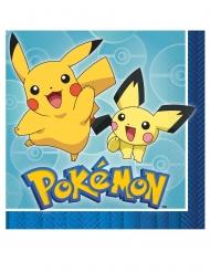 16 Guardanapos de papel Pokemon Core™ 33 x 33 cm