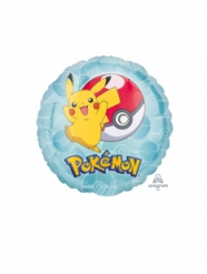 Pequeno balão alumínio redondo Pokemon™ 23 cm