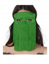 Mascarilha verde com franjas adulto