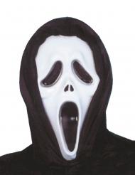 Máscara preto e branco de plástico assassino psicopata adulto