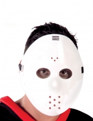 Máscara de hóquei branco adulto