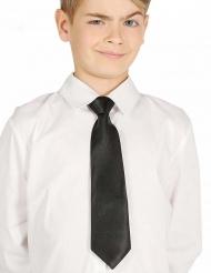 Gravata preta criança 30 cm