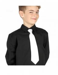 Gravata branca criança 30 cm