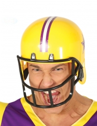 Capacete de futebol americano amarelo adulto
