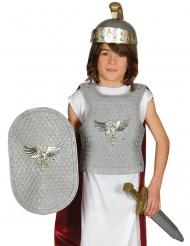 Kit soldado romano prateado criança