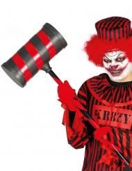 Martelo palhaço assassino vermelho e preto adulto 79 cm