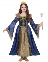 Disfarce de rainha medieval invernal menina