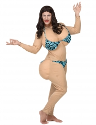 Disfarce bimbo em bikini adulto
