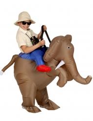 Disfarce insuflável explorador de elefante criança