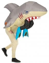 Disfarce insuflável ataque de tubarão adulto