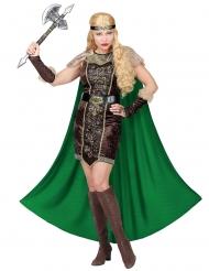 DIsfarce viking pelo com capa mulher