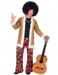 Disfarce hippie woodstock homem