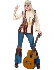 Disfarce hippie peace mulher