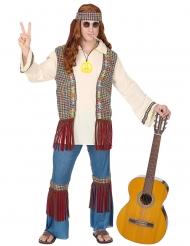Disfarce hippie peace homem