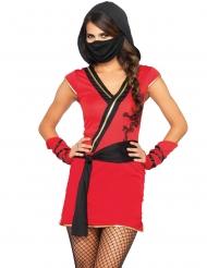 Disfarce ninja mistica vermelha mulher