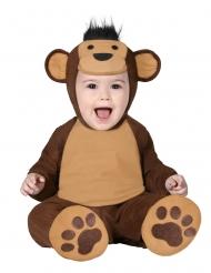 Disfarce macacão macaco castanho bêbe