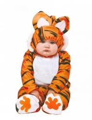 Disfarce macacão tigre laranja e preto bebé