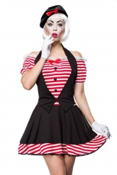 Disfarce mime sexy mulher