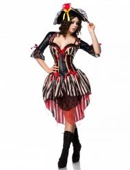 Disfarce pirata corpete vermelho sexy mulher