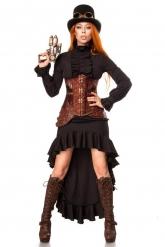 Disfarce combatente steampunk mulher