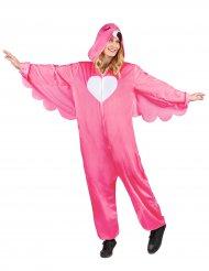 Disfarce flamingo rosa mulher