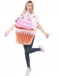 Disfarce cupcake colorido adulto