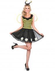 Disfarce abelha amarelo e preto mulher