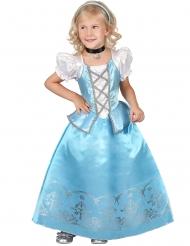Disfarce princesa menina - vestido azul e branco